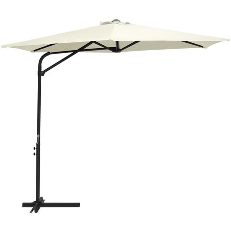 Outdoor Parasol with Steel Pole 300 cm Sand White