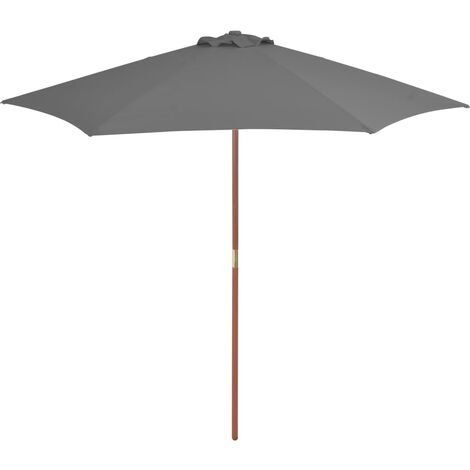 Outdoor Parasol with Wooden Pole 270 cm Anthracite