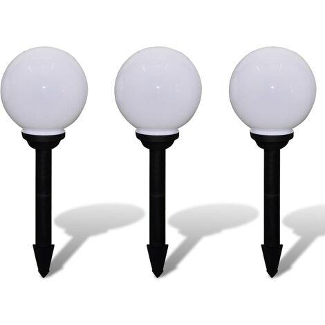 Outdoor Path Garden Solar Lamp Path Light LED 20cm 3pcs Ground Spike