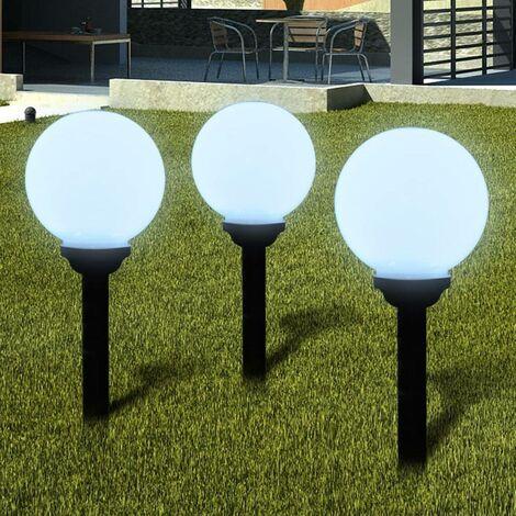 Outdoor Path Garden Solar Lamp Path Light LED 20cm 3pcs Ground Spike VD26276