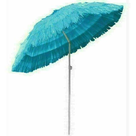 Outdoor Patio Hawaiian Parasol Beach Sun Shade Protection Umbrella Tilting Blue