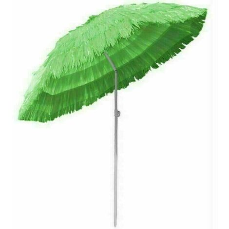 Outdoor Patio Hawaiian Parasol Beach Sun Shade Protection Umbrella Tilting Green