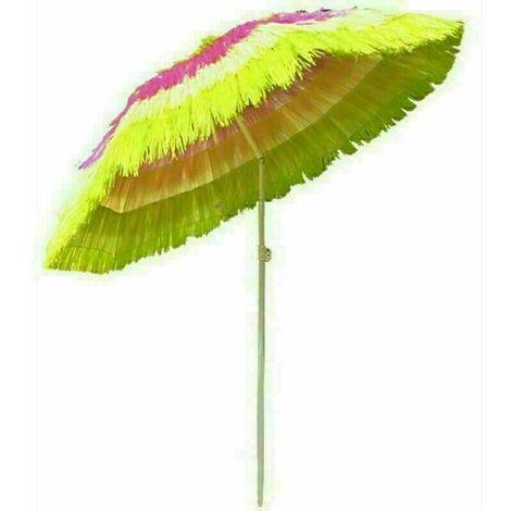 Outdoor Patio Hawaiian Parasol Beach Sun Shade Protection Umbrella Tilting Multiple Colour