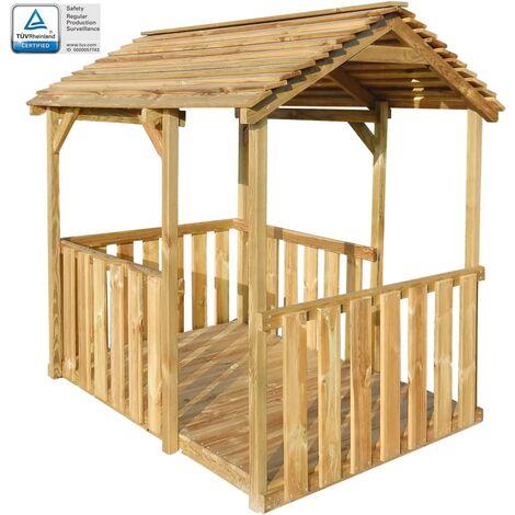 Outdoor Pavilion Playhouse 122.5x160x163 cm Pinewood
