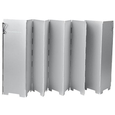 "main image of ""Outdoor Picnic Gases Burners Windproof Board Stuck Gases Stoves Windshield Folding Windbreak Plate Wind Deflector Aluminum Alloy Windshield"""