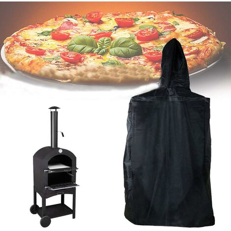 """main image of """"Outdoor Pizza Oven Cover,Garden Ovens Protective Cover With Drawstring,Waterproof,Dust Proof, Oxford Black 45*65*165Cm"""""""