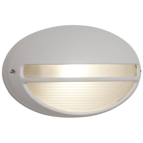 OUTDOOR & PORCH 60W WHITE OVAL BULKHEAD