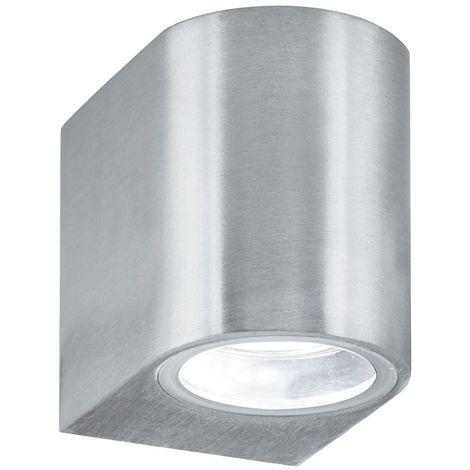 OUTDOOR & PORCH (GU10 LED) IP44 WALL LIGHT 1 LIGHT SILVER