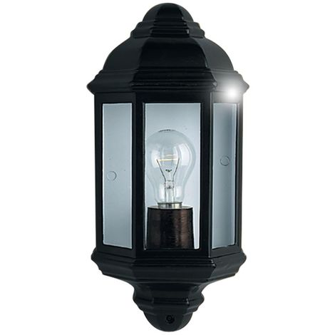OUTDOOR & PORCH WALL LIGHT BLACK FLUSH