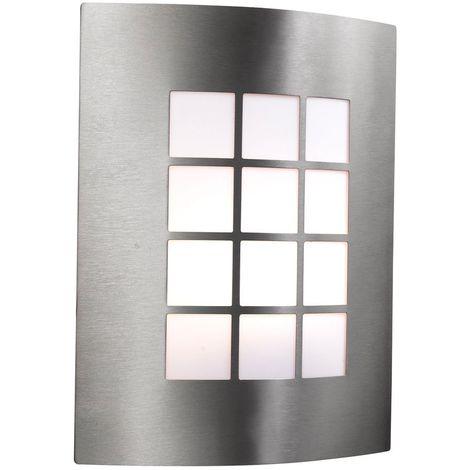 Outdoor & porch wall light - stainless steel 1 light