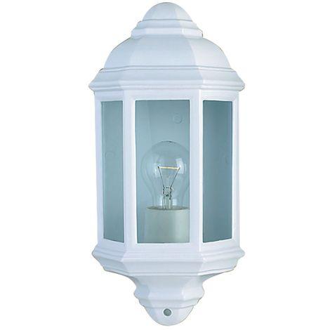 Outdoor & porch wall light white flush