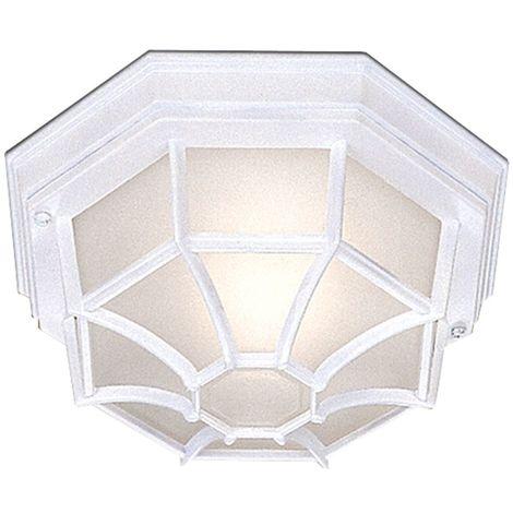 Outdoor & porch - white flush light