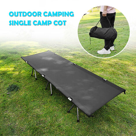 """main image of """"Outdoor Portable Folding Bed Single Person Camping Cot 264LB Bearing Weight Compact for Outdoor Picnic Camping Hiking,model:Black"""""""