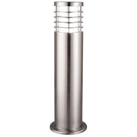 OUTDOOR POST LAMP - 1 LIGHT 45cm STAINLESS STEEL