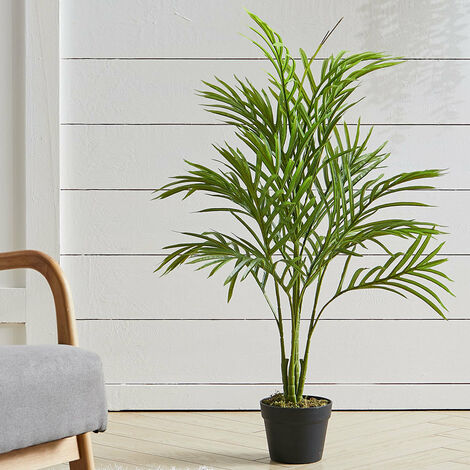 Outdoor Realistic Artificial Palm Tree Plant in Pot, 90CM