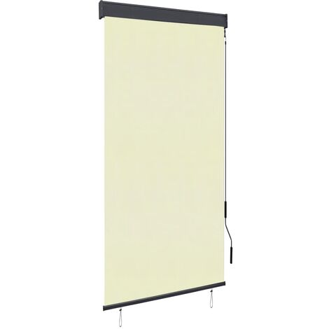 Outdoor Roller Blind 100x250 cm Cream