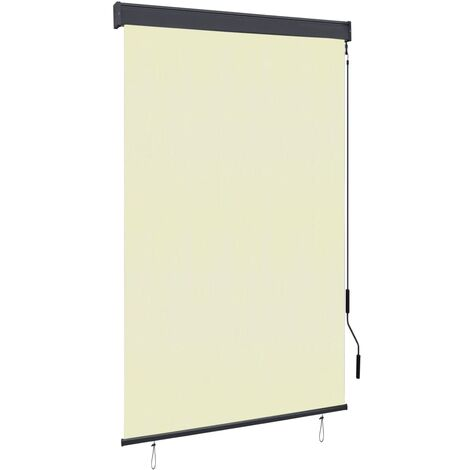 Outdoor Roller Blind 120x250 cm Cream
