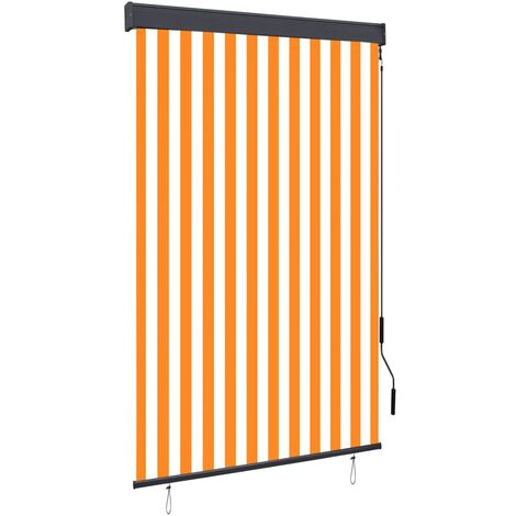 Outdoor Roller Blind 120x250 cm White and Orange