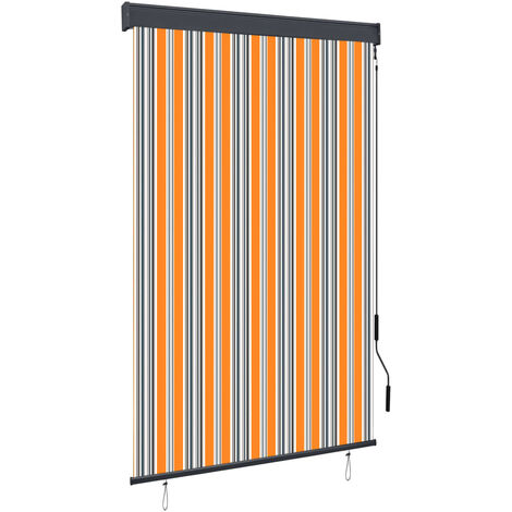 Outdoor Roller Blind 120x250 cm Yellow and Blue