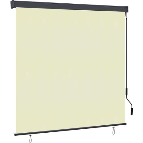 Outdoor Roller Blind 160x250 cm Cream