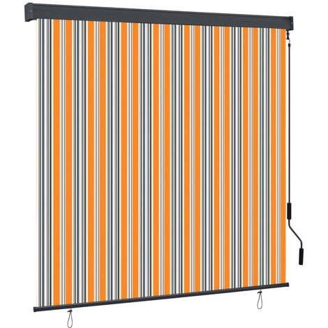 Outdoor Roller Blind 170x250 cm Yellow and Blue