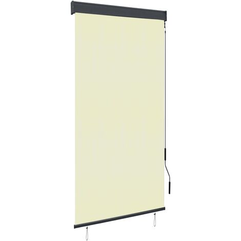 Outdoor Roller Blind 80x250 cm Cream