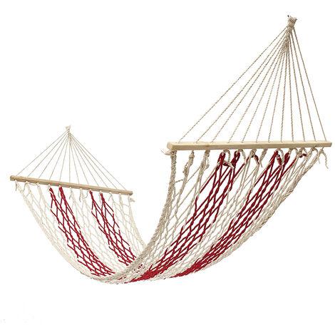"main image of ""Outdoor Rope Hammock Hanging Swinging Bed 190*80cm"""