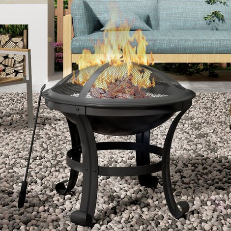 Outdoor round Fire Pit BBQ Fire Pit