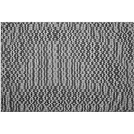 Outdoor Rug 140 x 200 cm Black and White IMIRCIK