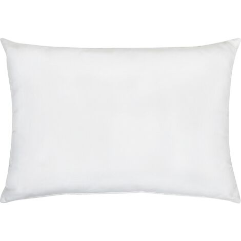 Outdoor Scatter Pillow White Polyester Cover Zippered 50 x 70 cm Garden Patio