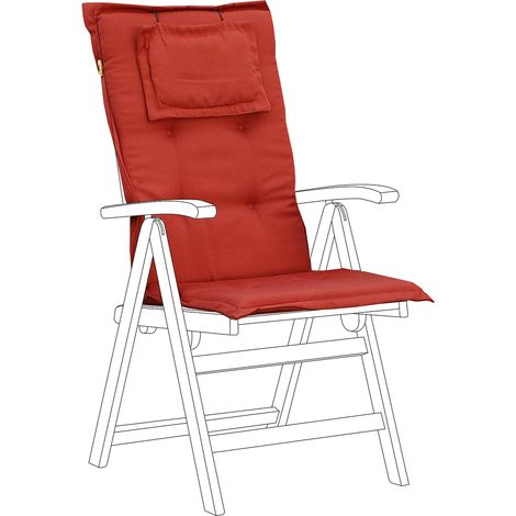 Outdoor Seat/Back Cushion Red TOSCANA