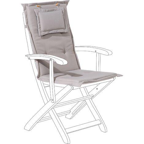 Outdoor Seat/Back Cushion Taupe MAUI