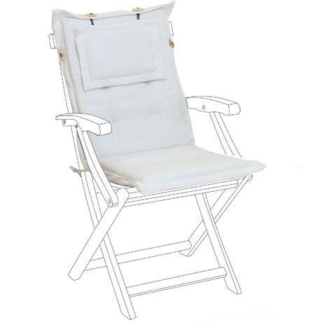 Outdoor Seat/Back Cushion White MAUI