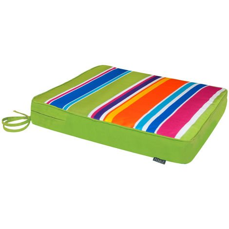 Outdoor Seat Pad Cushion - Foam Filled with Ties