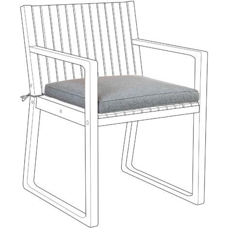 Outdoor Seat Pad Cushion Grey SASSARI