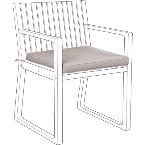 Outdoor Seat Pad Cushion Taupe SASSARI