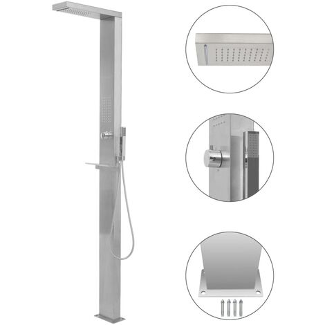 """main image of """"Outdoor Shower Stainless Steel Square33545-Serial number"""""""