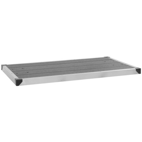 Outdoor Shower Tray WPC Stainless Steel 110x62 cm Grey