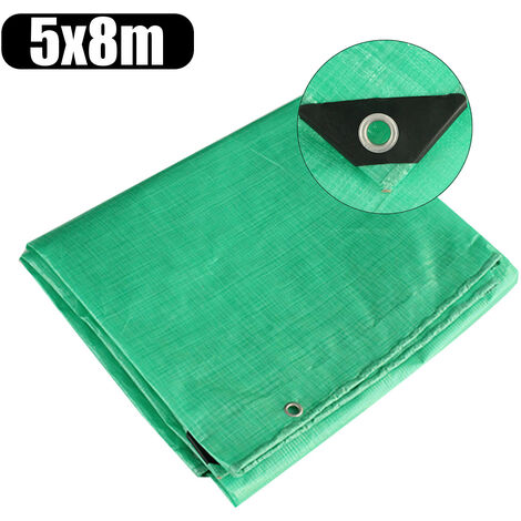 Outdoor Snow Long-lasting Protection Waterproof Camping Tarpaulin Tent Cover Car Cover Canopy 5X8M Green