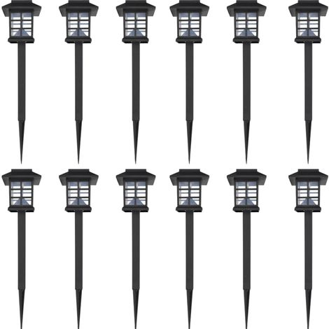 Outdoor Solar Lamp LED Light 12 pcs Spike 8,6 x 8,6 x 38 cm VD26375