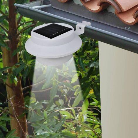 Outdoor Solar Lamp Set 6 pcs Fence Light Gutter Light White QAH26385