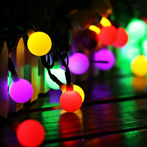 Outdoor Solar Lamp String Lights, 60 LED 10M Waterproof IP65 with 8 Modes Ambient Lighting Pretty Decoration Light for Garden Patio Fence Yard Home Party Christmas Multicolor (multi)