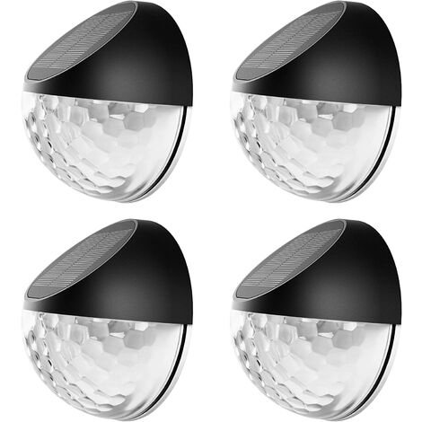 Outdoor Solar Lamp with Star Lights, Solar Fence Light, Indoor and Outdoor with Automatic Sensing Solar Lamp for Path, Garden, Stairs - 4PCS