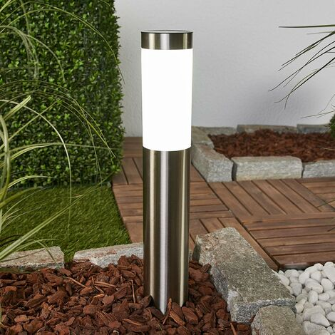 outdoor solar lights 'Aleeza' (modern) in Silver made of Stainless Steel (1 light source, A+) from Lindby | solar lamp, garden solar light