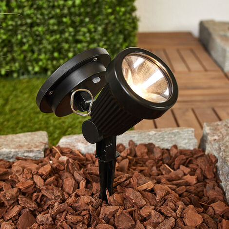 outdoor solar lights 'Eddie' (modern) in Black (1 light source, A+) from Lindby | solar lamp, garden solar light