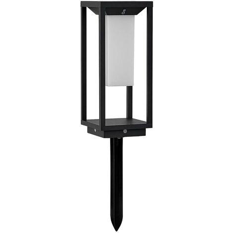 outdoor solar lights 'Eliel' (modern) in Black made of Aluminium (1 light source, A+) from Lucande | solar lamp, garden solar light
