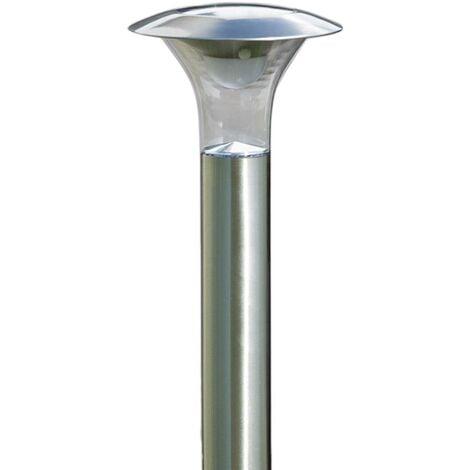 outdoor solar lights 'Jolin' (modern) in Silver made of Stainless Steel (1 light source, A+) from Lindby | solar lamp, garden solar light