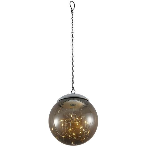 outdoor solar lights 'Tjelle' in Silver (1 light source,) from Lindby | Decorative Solar Lights