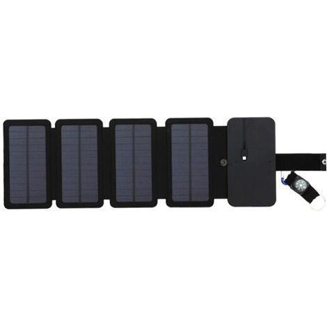 Outdoor Solar Power Charger Mobile Phone Charger Mobile Power Folding Removable