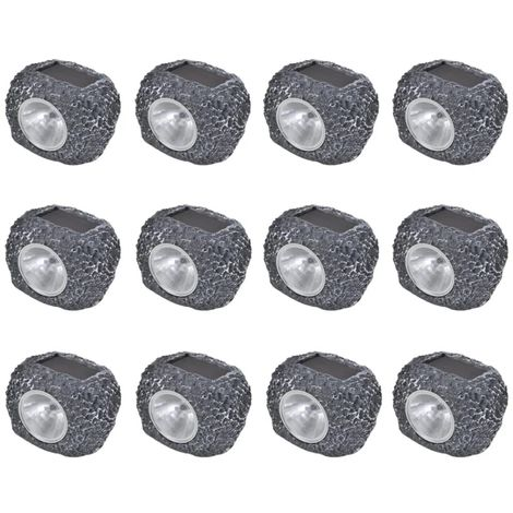 Outdoor Solar Powered LED Spotlight Stone SHommoo 12 pcs